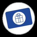 icon verras met een cadeaukaart